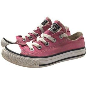 Converse Girls Youth Sz 11 Pink Sneakers